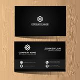 Modern and luxury business card template Premium. This is elegant, luxury, modern and classy business card template that can use for many company or many stock illustration