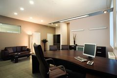 Elegant and luxury office interior design. stock photo