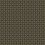 Elegant luxury repeat geometric texture with simple figures, circles, crosses, spools. Retro vintage seamless pattern. Elegant black and gold repeat geometric stock illustration
