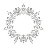 Elegant luxury vintage circle silver floral frame Royalty Free Stock Photography