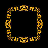 Elegant luxury vintage gold floral frame Stock Photo