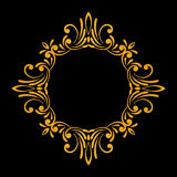 Elegant luxury vintage gold floral frame Royalty Free Stock Images