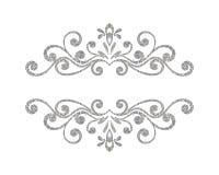 Elegant luxury vintage silver floral border Royalty Free Stock Photography