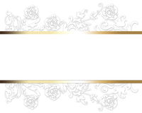 Elegant luxury white card. Elegant design with floral textures royalty free illustration