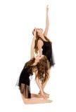 Elegant Lyrisch Dansduo Royalty-vrije Stock Afbeeldingen