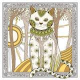 Elegant magic cat Stock Photography
