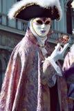 elegant male maskering Arkivbilder