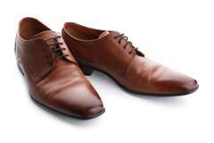 Elegant male shoes. On white background Royalty Free Stock Image