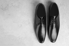 Elegant male shoes. On light background Stock Images