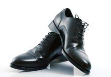 Elegant male shoes in white background. Elegant male shoes on white background Royalty Free Stock Photos