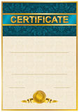 Elegant mall av certifikatet, diplom Royaltyfria Bilder