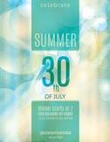 Elegant mall för reklamblad för sommarpartiinbjudan Fotografering för Bildbyråer