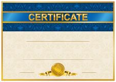 Elegant malplaatje van certificaat, diploma Royalty-vrije Stock Fotografie