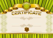 Elegant malplaatje van certificaat, diploma Royalty-vrije Stock Afbeelding
