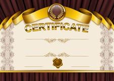 Elegant malplaatje van certificaat, diploma Stock Foto