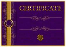 Elegant malplaatje van certificaat, diploma Royalty-vrije Stock Foto's
