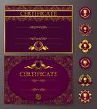 Elegant malplaatje van certificaat, diploma Stock Afbeelding