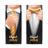 Elegant Man Banners Set Royalty Free Stock Image