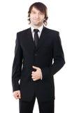 Elegant man in black suit Stock Photography