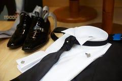 Elegant man clothes stock image