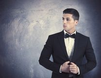 Elegant man. Concept of elegant young man with necktie Stock Photography
