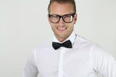 Elegant man with glasses Stock Photos