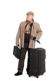 An elegant man iwith luggage. Stock Photos