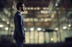 Elegant man in the luxury office block Royalty Free Stock Photos