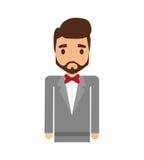 Elegant man male isolated icon Stock Photography