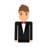 Elegant man male isolated icon Royalty Free Stock Photos