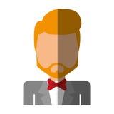 Elegant man male isolated icon Royalty Free Stock Image