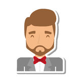 Elegant man male isolated icon Royalty Free Stock Photo
