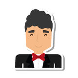 Elegant man male isolated icon. Vector illustration design Stock Images