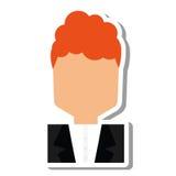 Elegant man male isolated icon Stock Photo