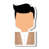 Elegant man male isolated icon Stock Photos