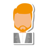 Elegant man male isolated icon Stock Images