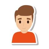 Elegant man male isolated icon Royalty Free Stock Images