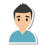Elegant man male isolated icon Stock Image