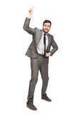 Elegant man pointing up Stock Photo