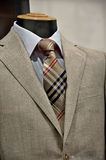 Elegant man suit. With tie in the store window Stock Photography