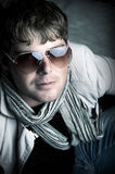 Elegant man with sun glasses Royalty Free Stock Photography