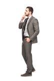 Elegant man thinking Stock Images