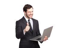 Elegant man winks Stock Image