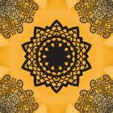 Elegant mandala-like seamless texture. Hand-drawn yoga yantra flower.  Stock Photos