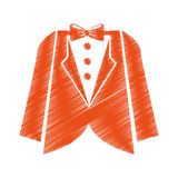 Elegant masculine dress icon Royalty Free Stock Photos