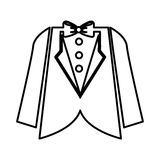 Elegant masculine dress icon Royalty Free Stock Image