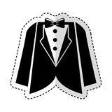 Elegant masculine dress icon Stock Photography