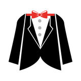 Elegant masculine suit clothes icon Stock Photo