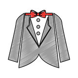 Elegant masculine suit clothes icon Stock Photos