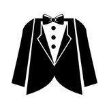 Elegant masculine suit clothes icon Royalty Free Stock Photography